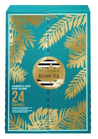 calendrier de l'avent Noël 2020 de la marque Sephora en partenariat avec Kusmi tea