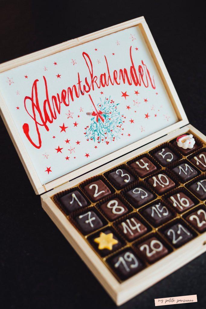 Calendrier de l'Avent - boite de chocolat